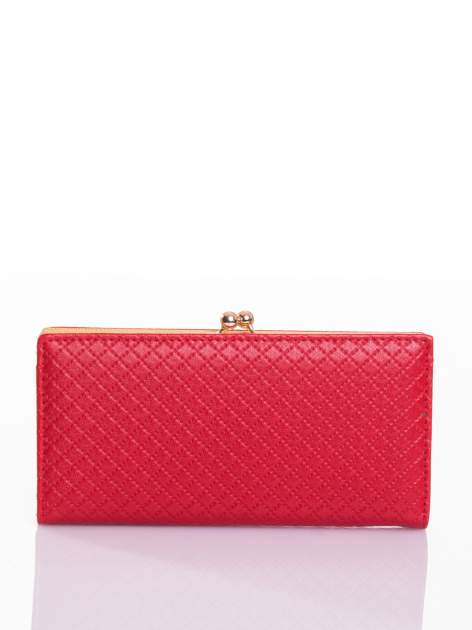 Czerwony elegancki portfel na bigiel