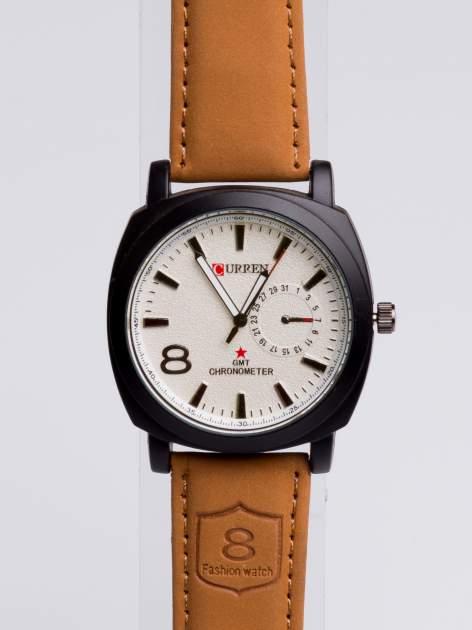 DLA NIEGO... Elegancki sportowy zegarek męski na miękkim skórzanym pasku