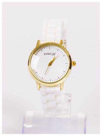 Damski zegarek z małą tarczą na silikonowym wygodnym pasku