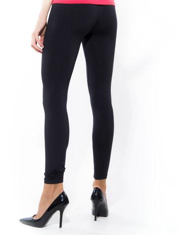 Granatowe gładkie legginsy