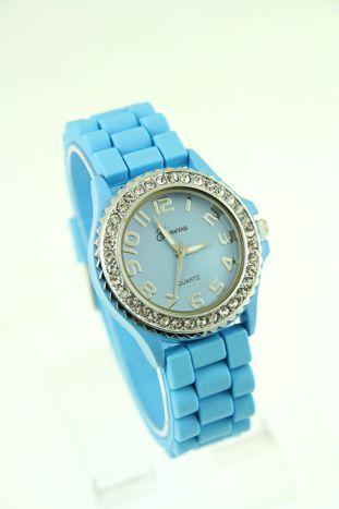 Granatowy zegarek damski na silikonowym pasku
