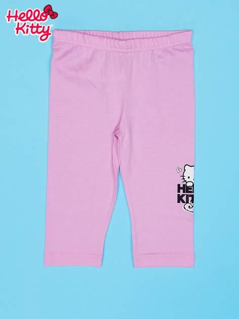 Jasnoróżowe legginsy dla dziewczynki HELLO KITTY
