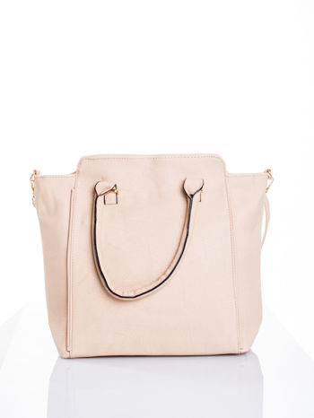 Kremowa torba shopper bag
