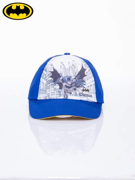 Niebieska chłopięca czapka z daszkiem BATMAN