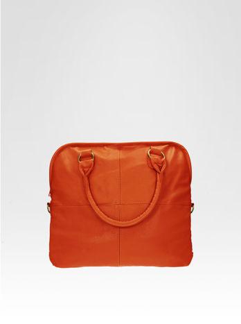 Pomarańczowa torba miejska na ramię