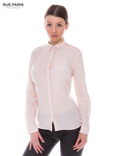 Różowa koszula z siateczkowym tyłem