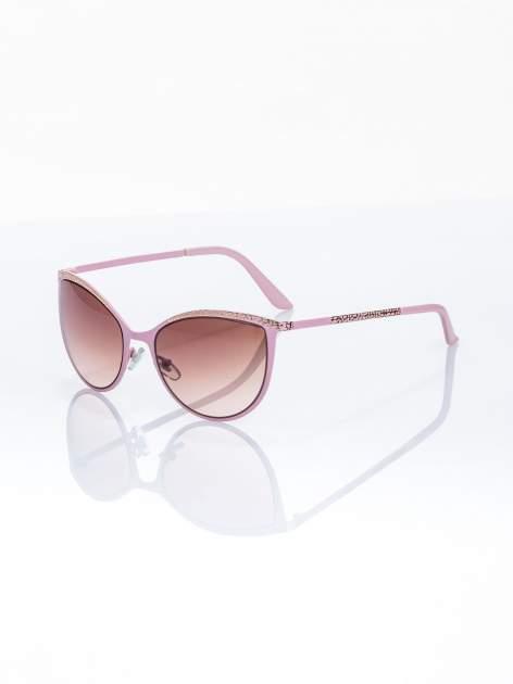 """Różowo-złote okulary przeciwsłoneczne w stylu """"KOCIE OCZY"""""""