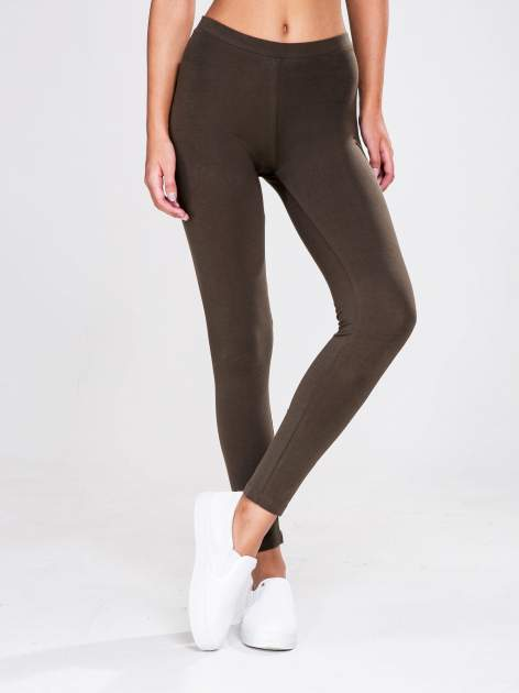 STRADIVARIUS Khaki legginsy basic