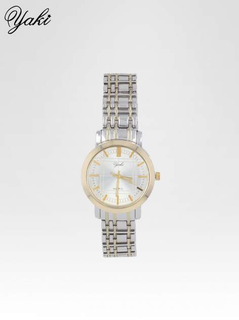 Srebrny klasyczny zegarek damski na bransolecie