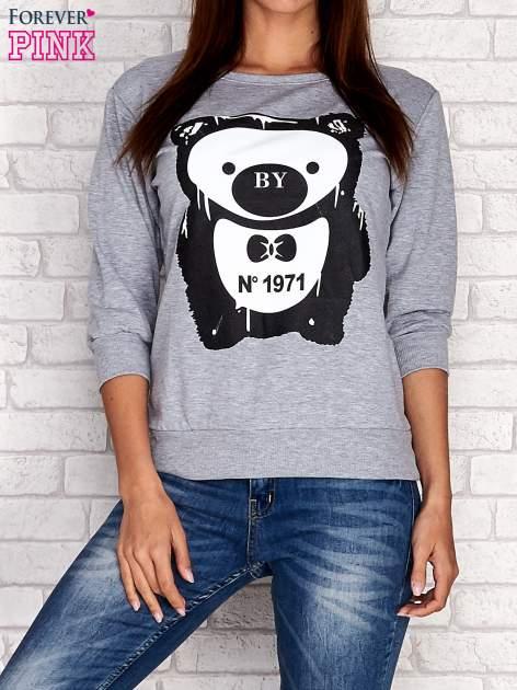 Szara bluza z nadrukiem pandy