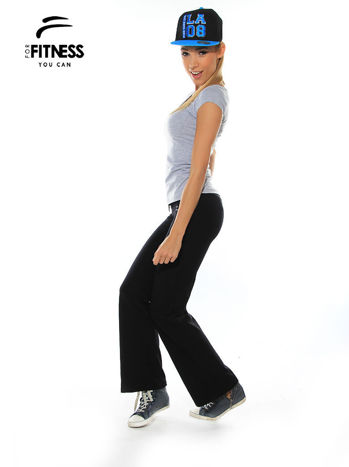 Szary prosty t-shirt For Fitness