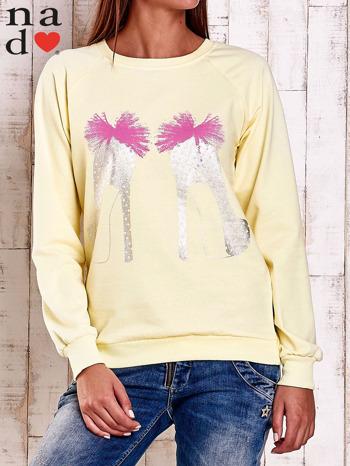 Żółta bluza z nadrukiem szpilek