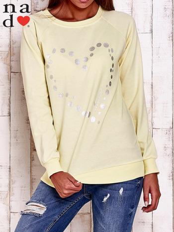 Żółta bluza z wzorem serca