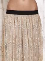 Beżowa koronkowa spódnica maxi