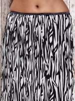 Biała plisowana spódnica midi z brokatem