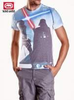 Biały t-shirt męski motyw Star Wars