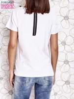 Biały t-shirt z napisem J'ADORE LE NOIR