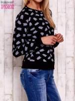 Czarna bluza z motywem sów