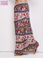 Czarna letnia spódnica maxi we wzory etno