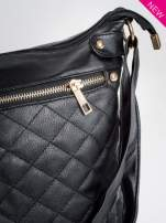 Czarna pikowana torebka na ramię