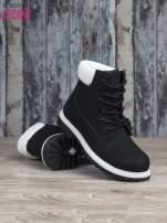 Czarne buty trekkingowe damskie traperki ocieplane