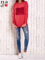 Czerwona bluza z napisem BODDHA CAT