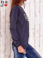 Grafitowa bluza z nadrukiem ważki