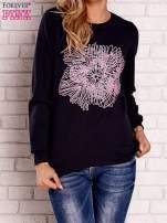 Granatowa bluza z kolorowym nadrukiem