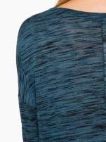 Granatowa melanżowa bluzka o obniżonej linii ramion