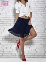Granatowa plisowana spódnica do kolan