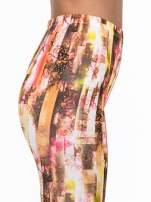 Kolorowe legginsy z graficznym nadrukiem