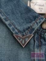 Koszula jeansowa z nakładkami