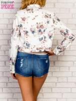 Kwiatowa kurtka jeansowa