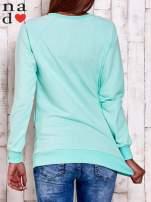 Miętowa bluza z gwiazdą