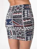 Mini spódnica tuba w azteckie wzory