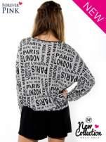 Nietoperzowa bluzka z motywem fashion