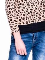 Panterkowy sweter zapinany na guziki