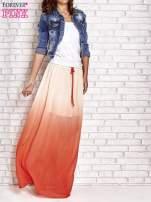 Pomarańczowa długa spódnica maxi z efektem ombre