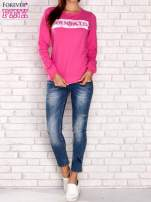 Różowa bluza z napisem ARIGATO