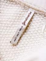 STRADIVARIUS Ecru długi sweter z łączonych materiałów