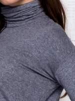 Szara asymetryczna bluzka z golfem