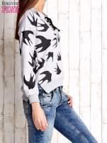Szara bluza w jaskółki z wiązaniem