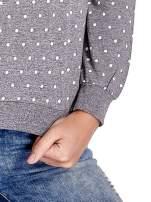 Szara bluza w kropki z napisem LONDON