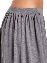 Szara długa spódnica maxi