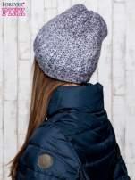 Szara dzianinowa czapka ombre