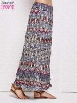 Szara letnia spódnica maxi we wzory etno