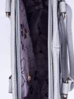 Szara torba shopper bag z suwakiem
