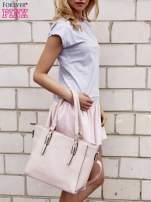 Szaro-różowa dresowa sukienka tenisowa z kieszonką
