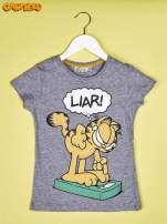 Szary t-shirt chłopięcy GARFIELD