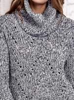 TOM TAILOR Szary melanżowy sweter z golfem